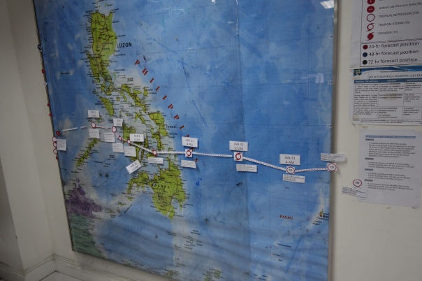 NDRMMC tracks the movement of a typhoon earlier this year.